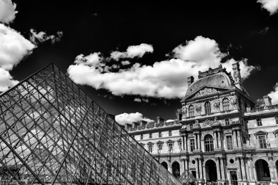 Cloudy day at the Louvre