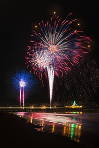 Manhattan Beach Pier fireworks