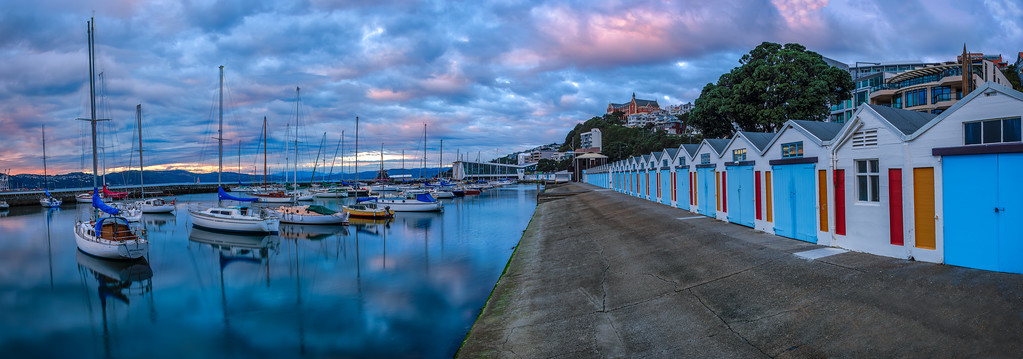 Boats and Sheds, Wellington, New Zealand