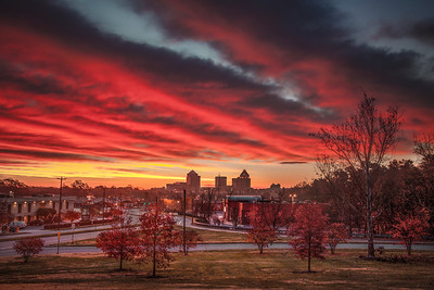 Autumn Sunrise Above Greensboro
