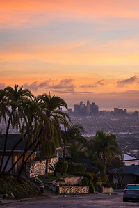 Los Angeles sunrise after the storm