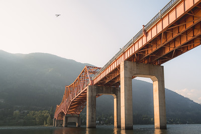 Big Orange Bridge (BOB). Nelson, B.C. Canada