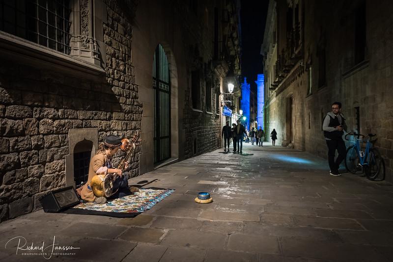 Street musician, Barcelona