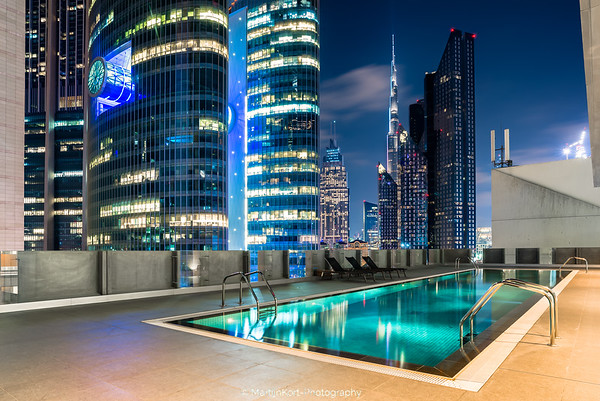 Pool with a view in Dubai