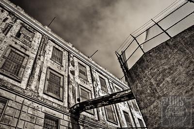 Alcatraz Patio B&W