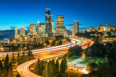 Seattle twilight long exposure