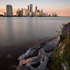 Downtown Miami and Brickell Key at Sunset