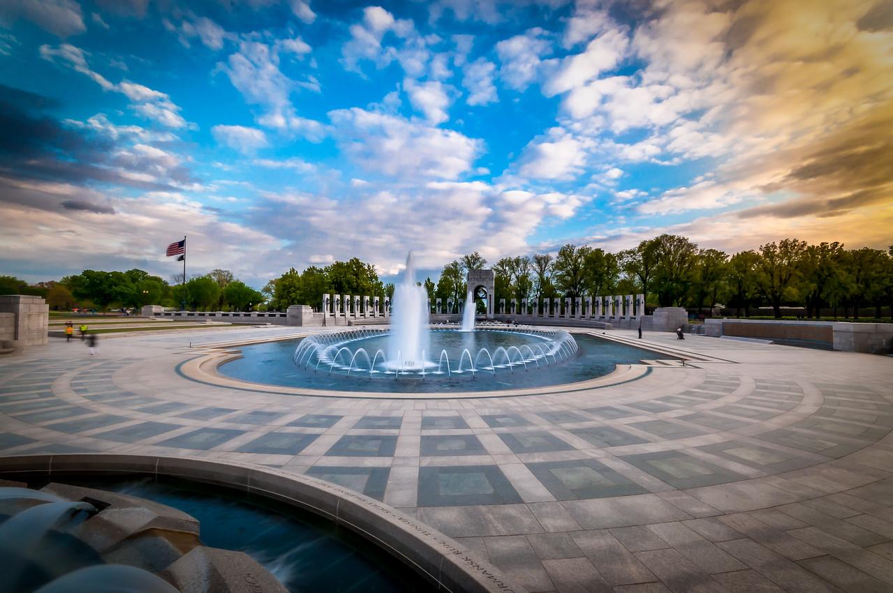 Blue Skies over WWII Memorial