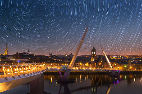 Star Trails Over Derry