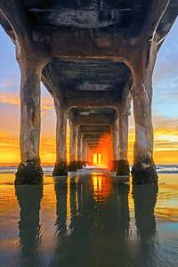Manhattan beach portal sunset