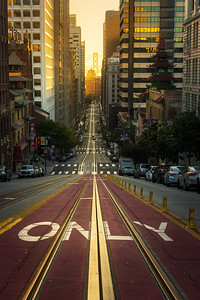 California Street San Francisco sunrise