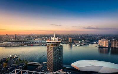 Bird eye view of Amsterdam