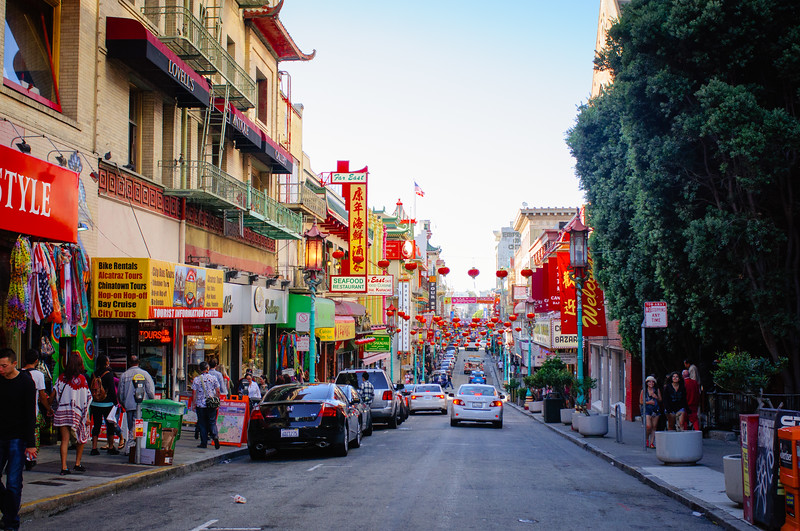 A city within itself - China town in San Francisco
