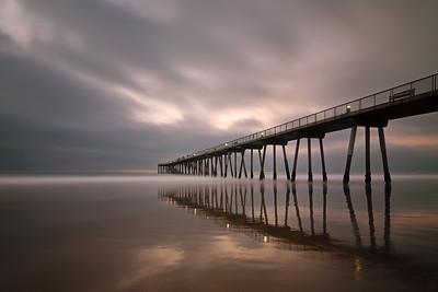 Hermosa BEach pier long exposure reflections