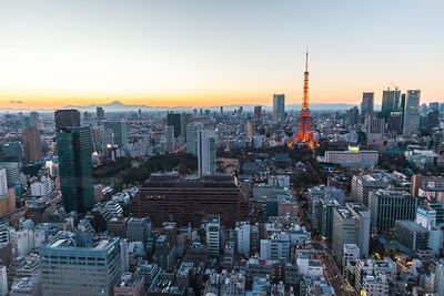 Tokyo Tower with Fuji-san