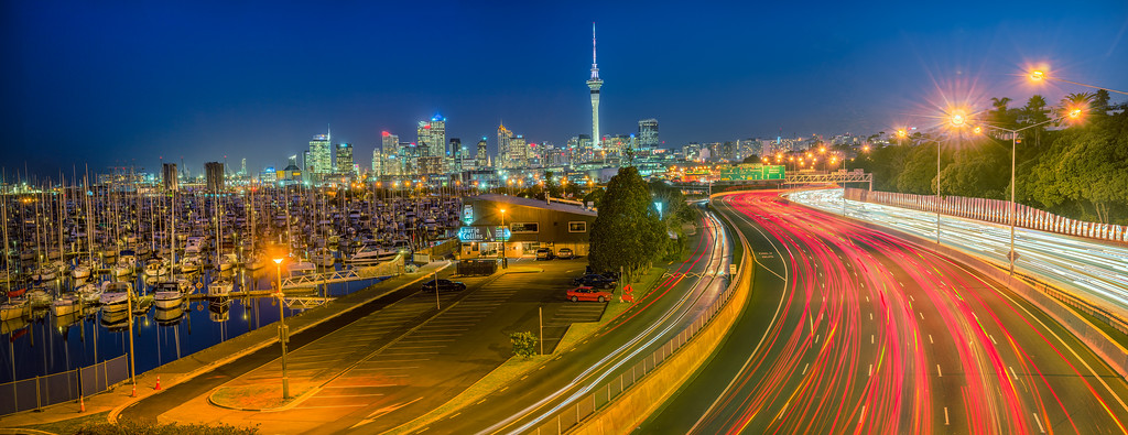 Auckland Blue Hour, New Zealand