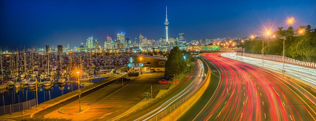 Auckland Blue Hour, New Zealand
