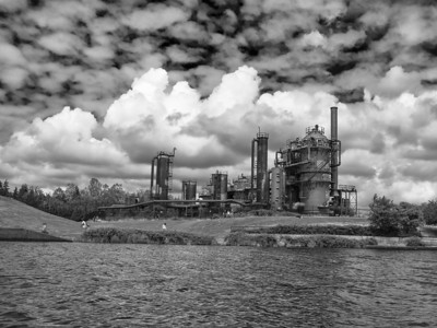 gasworks from the water