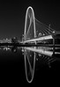 Margaret Hunt Hill Bridge in B/W