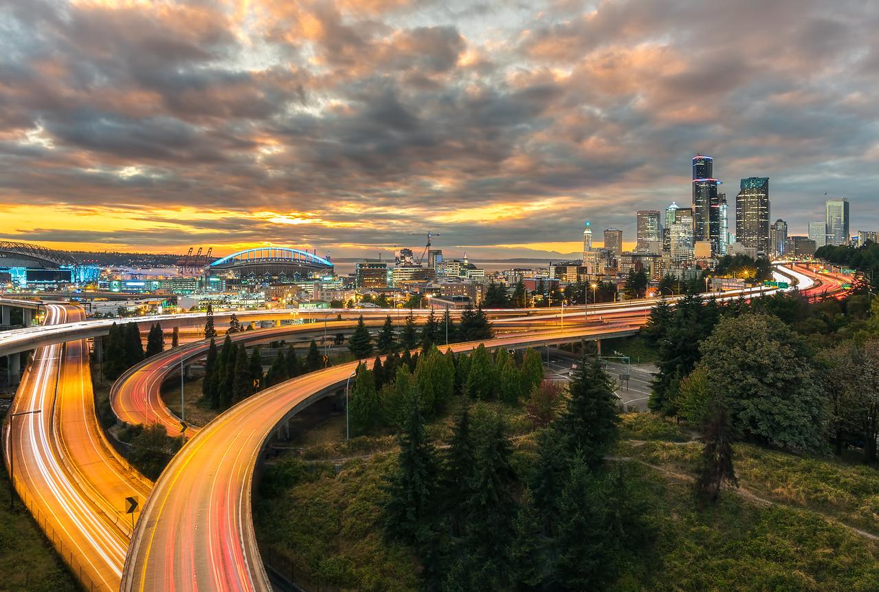 Seattle lights from Jose Rizal Bridge