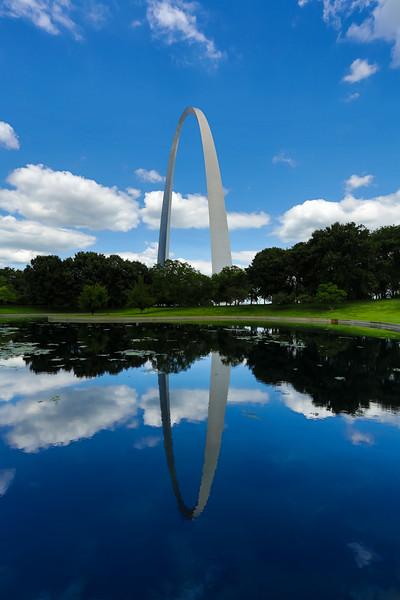 Another angle of the Arch on a beautiful day.