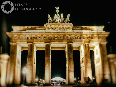 Brandenburg Gate (with some wet plate development) late at night. I only had 24 hours in Berlin, so I spent about 22 of those hours walking around the city, taking a ton of photos. I was near collapse when I finally made my way to the Brandenberg Gate. Fortunate to get it with such little foot traffic - 2 am is apparently a great time to shoot photos there!