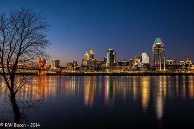 Cincy Skyline Twilight