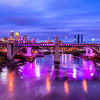 Minneapolis is lit up purple for Prince.