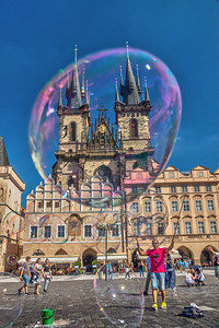 Tyn Church, Old Town Square, Prague, Czech Republic.
