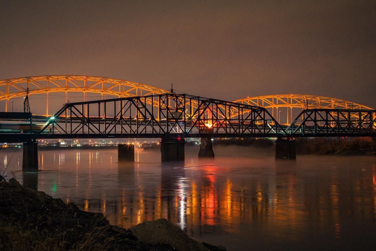 Buck O'Neil Bridge. Kansas City, MO. January, 2017.