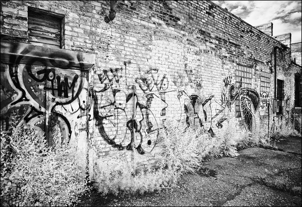 Detroit Factory Graffiti