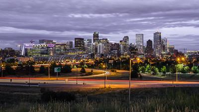 Denver at nightfall