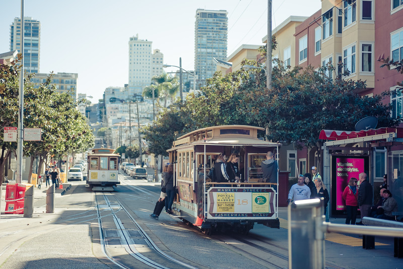 Cable car rides in San Francisco
