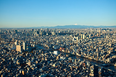 View from Skytree Tokyo with Fuji-san
