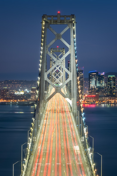 Bay Bridge at twilight, San Francisco