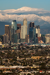 Record snow levels on Mt. Badly, Los Angeles