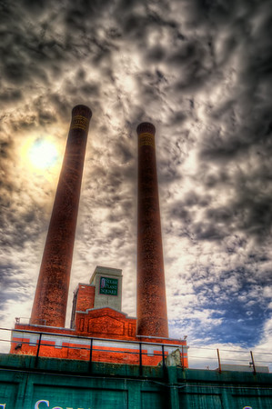 Steam Plant Smoke Stacks