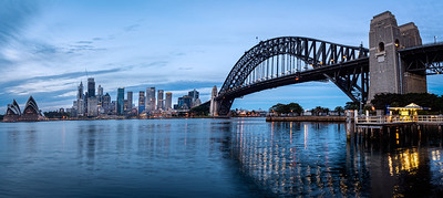 Milson Point view of the Harbour Bridge