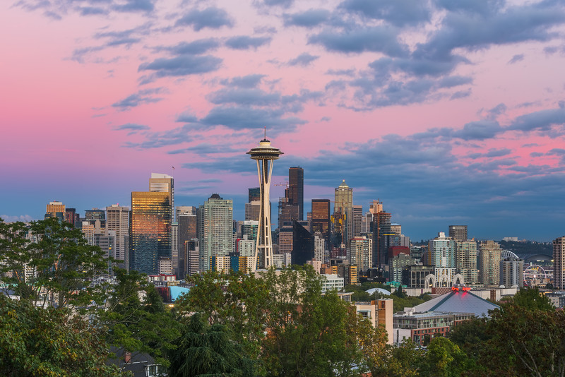 Seattle alpenglow from Kerry Park
