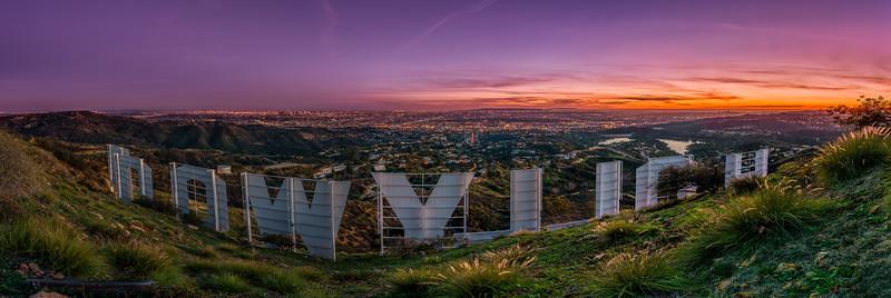 Hollywood Sign Panorama
