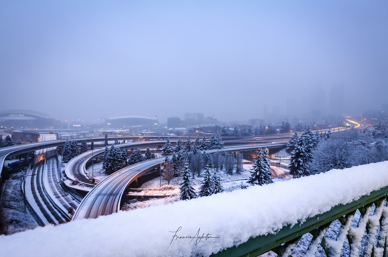 Seattle in White