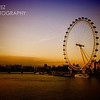Photo of the London Eye near sunset from the Westminster Bridge in London