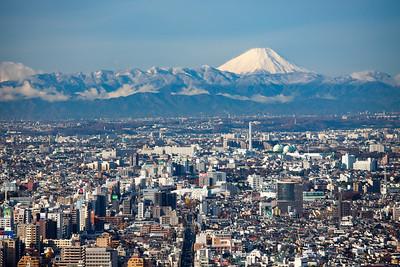 Fuji-san seen from Park Hyatt