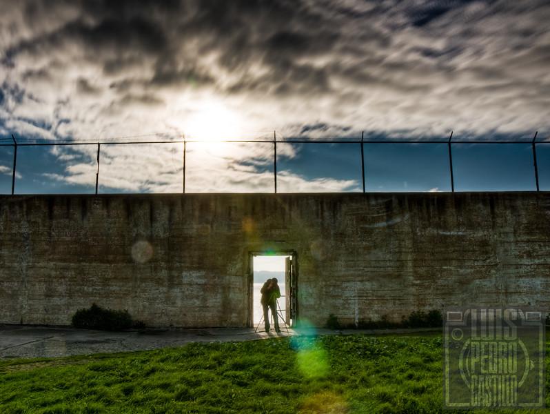 Photographer in Alcatraz