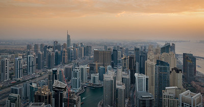 Sunset over Dubai Marina