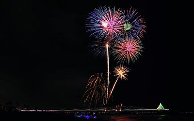Fireworks 2014 manhattan beach pier