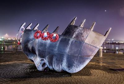 The seafarers memorial, Cardiff bay