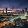 Kuwait Cityscape sunset