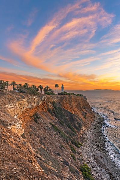 Point Vicente lighthouse sunset, Palos Verdes
