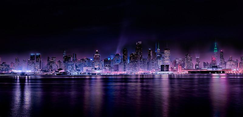 "Panoramic Manhattan with Nightfall - Augen 2013<br> <a href=""http://augenstudios.deviantart.com"">Deviant Art</a> August 2013 What's Hot"